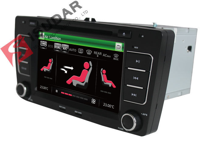 SKODA Octavia VW Car DVD Player 7 Inch 2 Din Gps Bluetooth Car Stereo With Hand Brake Control