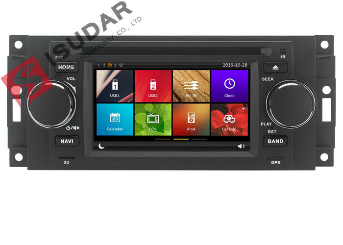 Capacitive Touch Screen Chrysler 300c Dvd Player , Multimedia Car Entertainment System
